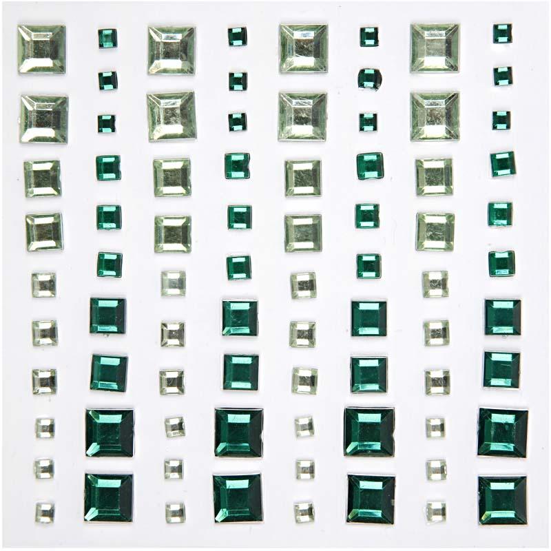 CC - Rhinestone mosaik grön