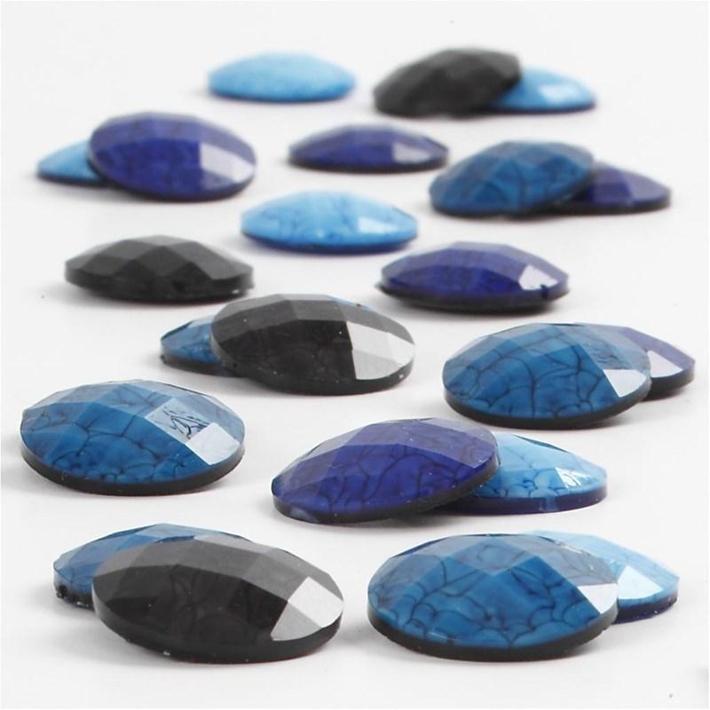CC - Cabochons blå harmoni