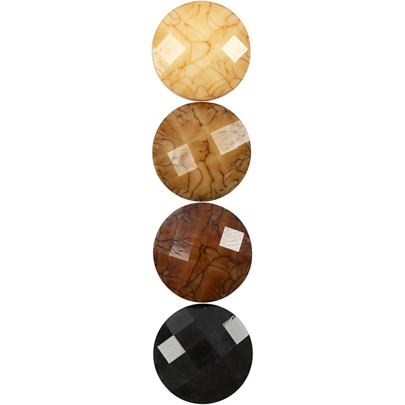 CC - Cabochons brun harmoni