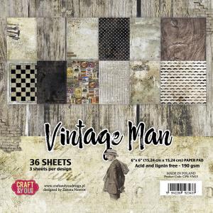 """CY - Vintage Man  PaperPad 6"""" x 6"""""""