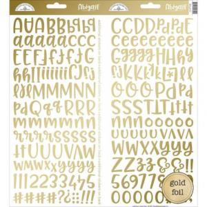 DBD - Bokstavs stickers Gold Foil-Abigail