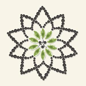 BG - Bling It blomma svart