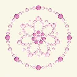 BG - Bling It blomma rosa