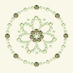 BG - Bling It blomma grön
