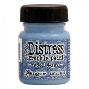 R - Distress Crackle Paint faded jeans