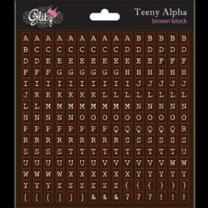 G - Teeny Alpha brown block