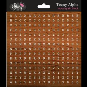 G - Teeny Alpha wood grain block