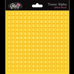 G - Teeny Alpha yellow block