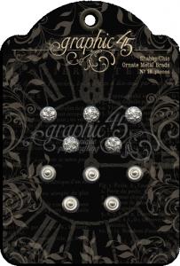 G45 - Shabby Chic Ornate Metal Brads