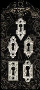 G45 - Shabby Chic Ornate Metal Key Holes