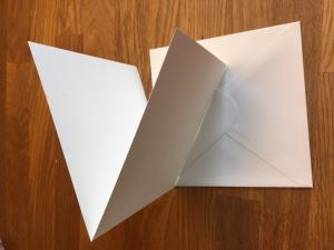 Dubbelvikta kort och Kuvert - natur