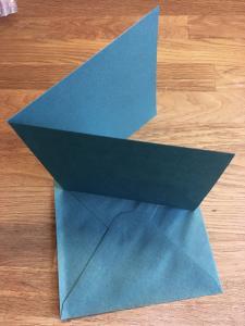 Dubbelvikta kort och Kuvert - grön