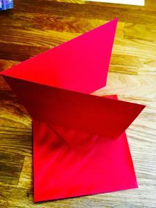 Dubbelvikta kort och Kuvert - röd