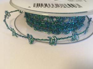 Band - Med ståltråd turkos