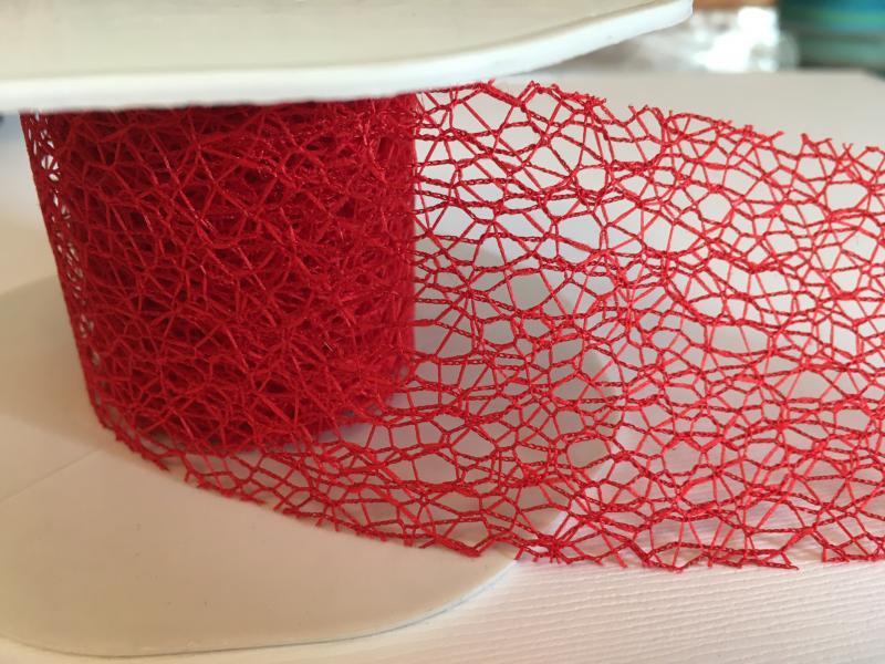 Nätband fin röd