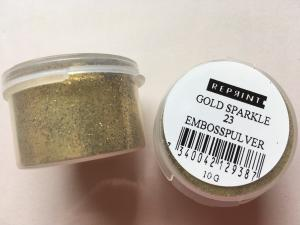 R - Embossingpulver Gold sparkle