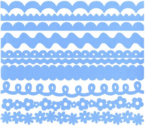 BG - Just Edge Strips ljusblå