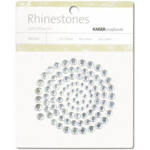 KC - Rhinestones, klar/silver