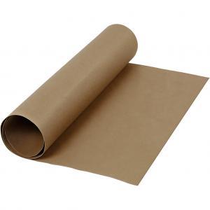 Läder papper mörkbrun