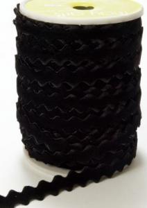 Band - Velvet zigzag svart