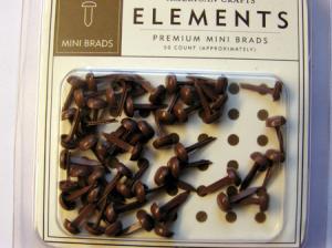 AC - Mini Brads runda chestnut