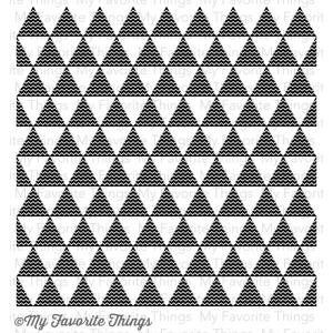 MFT - Background Rubber stamps - Triangles