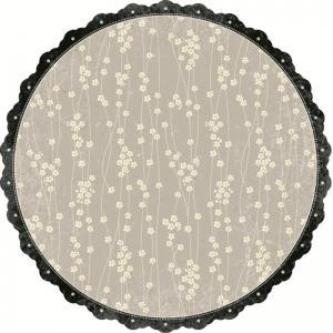 MM-Noir Floral Vine Shimmer Paper
