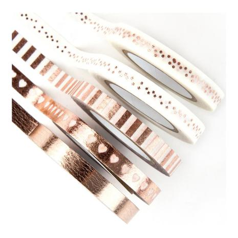 PM - Planner Suger Tape, Rose Gold Foiled