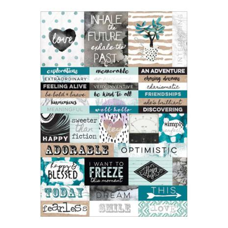 P - Word stickers,Bella Teal