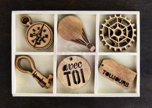 P - Cartographer Wood Embellishments