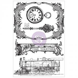 P - Cling stamps - Time Travelers