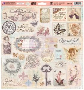 P - Princess  ChipBoard Pieces