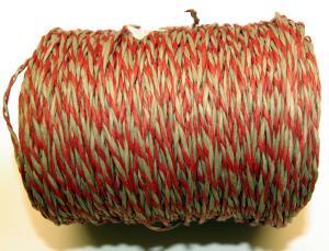 Pappersnöre röd/natur