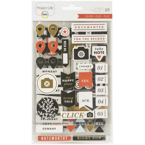 BH - Chipboard stickers, Click