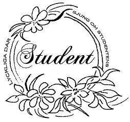 R - Stämpel rund Student