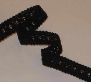 R - Bomullsspets svart