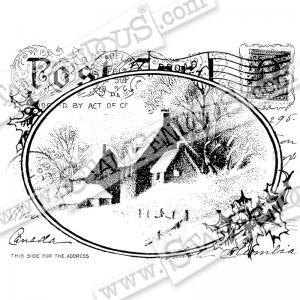 S - Snowy Postcard