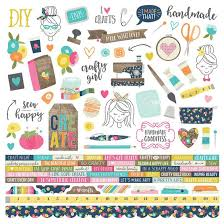 SS - Combo Cardstock stickers - Crafty Girl