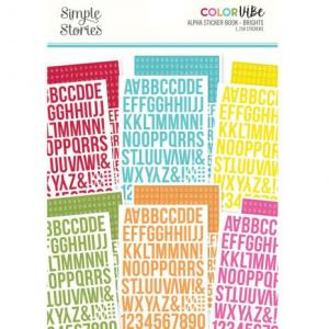 SS -Color Vibe Alpha stickers book, brights
