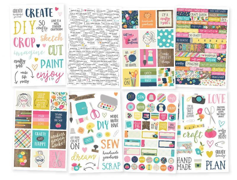 SS - Stickers Crafty Girl