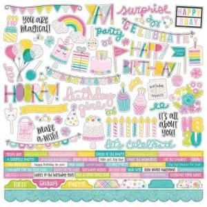 "SS - Cardstocks stickers, Magical Birthday 12""x12"""