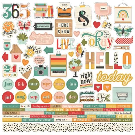 SS - Cardstock stickers, Hallo Today
