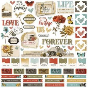 SS - Cardstock stickers, Vintage Ancestry