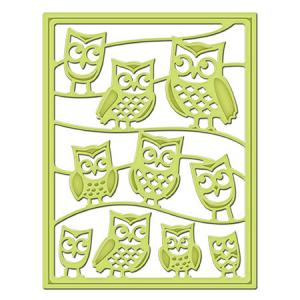 SP - It's A Hoot Decorative Card Front Card Creator Etched Dies