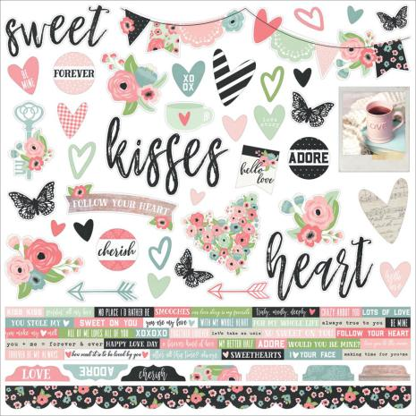 SS - Combo Cardstock stickers Romance