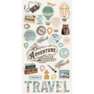 SS - Chipboard stickers Vintage Traveler