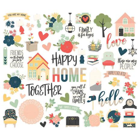 """SS - Cardstock stickers 12"""" x 12"""" So Happy Together"""