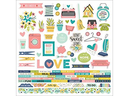 SS - Combo Cardstock stickers Domestic Bliss