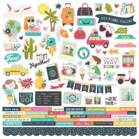 SS - Cardstock Stickers Going Places