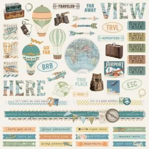 SS - Combo Cardstock stickers Vintage Traveler